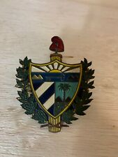 Vintage Coat of Arms Auto Car Grill Badge | Brass Original Made in Spain Espana