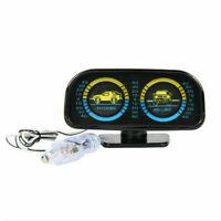 12V Car Backlight Inclinometer Angle Tilt Slope Meter Gauge Level Off Road P0G3