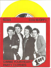 "SUBS ""Gimme Your Heart"" yellow 7"" Vinyl Single"