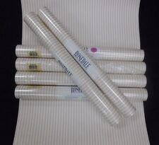Mauve White Stripe Wallpaper Rosedale #NK4566 (Lot of 6 Double Rolls)
