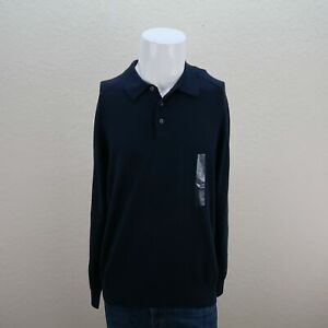 NWT Perry Ellis Long Sleeve Buttons Up Collared Cotton Casual Polo Shirt Mens XL