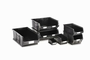 Barton Topstore Black TC Semi-Open Fronted Containers Picking Bins