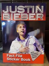 New Justin Bieber: Fact File Sticker Book WITH REUSABLE STICKERS INSIDE