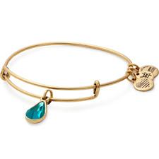 ALEX AND ANI December Blue Zircon Crystal Birthstone Bracelet ~ A-2