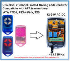 ATA Compatible Universal 2-Channel receiver 12-24V AC/DC 433.92MHz.