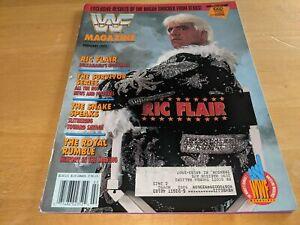 RIC FLAIR WWF MAGAZINE Wrestling February 1992 Issue Survivor Series RARE