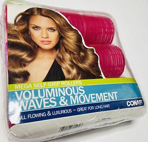 Mega Self Grip Rollers Conair Voluminous Waves & Movement Long Hair Pkg of 9