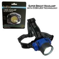 Headlamp Super Bright Headlight COB Led 3 Modes Flashlight Head Torch Light Work