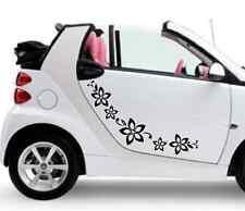 stickers adesivi adesivo tuning fiori farfallina farfalle auto smart fiat 500