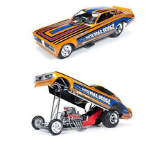 1:18 AUTOWORLD / ERTL 1971 DODGE CHARGER TOM HOOVER WHITE BEAR NHRA FUNNY CAR