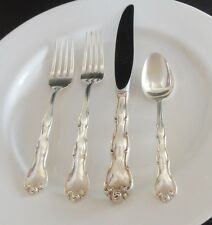 Gorham Sterling Silver RONDO 4 Piece Place Setting Salad Fork Knife Teaspoon