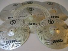 Set 6 Silver Low Volume Quiet Silent Cymbal Pack BAG+18 CHINA  14/16/18/20'' US