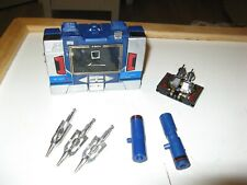 Transformers G1 Soundwave w Buzzsaw Complete All Weapons Lot # 1