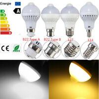 B22/E27/E14 5W 220V 18 LED Motion Kontrolle Pir Sensor Lampe Birnen Cool
