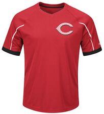 Cincinnati Reds MLB Majestic Mens Cool Base Emergence Shirt Big & Tall Sizes