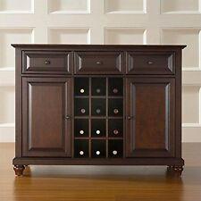Cambridge Buffet Server/Sideboard Cabinet with Wine Storage, Vintage Mahogany