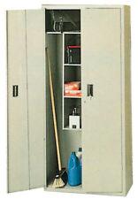 kit armadio armadietto portascope con 2 ante cm 40x80x175h lamiera grigia