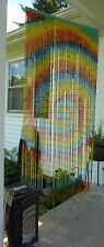 Magic Passage Bamboo Beaded Door Curtain Spiral Tie Dye by Funky Ppl Hippie Boho