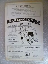 1965/66 DARLINGTON v SOUTHPORT, 1st Jan