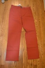 NWT J Crew Factory Men's Fox Red Bleecker Athletic Fit Pant 31x32