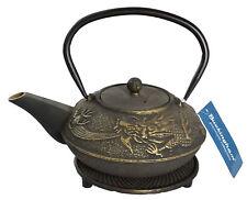 More details for buckingham imperial dragon  cast iron teapot kettle tea pot 700 ml with trivet