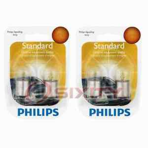 2 pc Philips Tail Light Bulbs for DeLorean DMC 12 1981-1983 Electrical nt