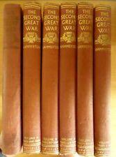 THE SECOND GREAT WAR, HARDBACK BOOKS BY J. HAMMERTON - VOLUMES 1, 2, 4, 5, 6 & 8