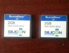 2 SILICON DRIVE CF- 2GB compact flash cards , silicon system