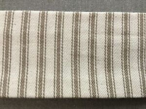 Fabric Chain or Cord Cover, Khaki Ticking , 10.5', French Country, Made in USA!