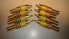 2Psc vergoldeter Cinch-Buchsenstecker-Adapter Audiokabelanschluss