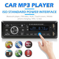 Single DIN Car Stereo Bluetooth MP3 Player USB FM Radio AUX-in Digital Head Unit