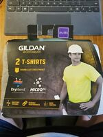 Gildan Men's DryBlend Workwear T-Shirts with Pocket (2 Pack) Gray Size 2XL