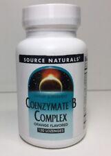 (New) Source Naturals Coenzymated B Complex Sublingual Orange - 120 Lozenge