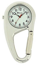 Ravel Clip on Carabiner Sprung Nurse Doctors Fob Medical Watch Silver R1105.01