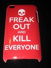 Skull  Hard Cover Case for iPod Touch 4th Gen Freak Out and Kill Everyone Red