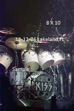 Kiss 1976 Peter Criss 8 X 10 Color Photo Lakeland,FL Shock Me