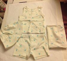Burberry Children Baby Unisex 12M Short Set Top Hat Gift Bag Brand New NWT