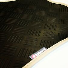 Vauxhall Chevette (1975-83) Richbrook 3mm Black Rubber Car Mats - Beige Leather