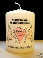 personalised engagement wedding proposal candle gift present keepsake