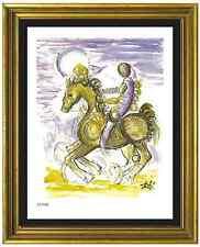 """Salvador Dali Signed/Hand-Numberd Ltd Ed """"Master & Horse"""" Litho Print (unframed)"""