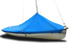 420 Sailboat - Boat Mast Up Peaked Cover - Royal Blue Poly SLO Sail and Canvas