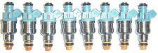 Set of 8 Ford OEM Blue Top 24 lb. Fuel Injectors, 1996-99 Mustang Cobra (VIN V)