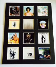 """Fleetwood Mac 14"""" by 11"""" LP Discography Covers Picture Mounted Ready to Frame"""