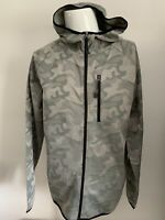 Mens Training Top Large Workout Technical Zip Hoody. Camouflage Design BNWT