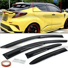 Fit 17-20 Toyota C-Hr Chr Jdm Mugen Style 3D Wavy Black Tinted Window Visor Vent (Fits: Toyota)