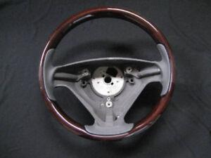 01'-03' Volvo S60 OEM steering wheel wood/ leather black 3 spoke