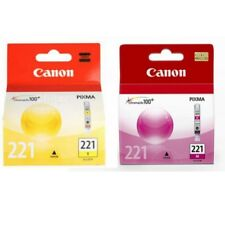 Genuine Canon CLI-221 CLI-221M CLI221-Y Magenta Yellow Ink Cartridges New Sealed
