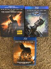 Dark Knight Trilogy (Blu-ray, DVD) Batman Begins & The Dark Knight & Rises