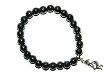 0462 - Beautiful Hematite Magnetic Gemstone Fertility Charm Wish Bracelet