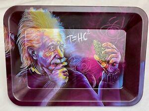 "5""x 7"" Purple philosopher Rolling Tray Tobacco Smoke Cigarette rolling"